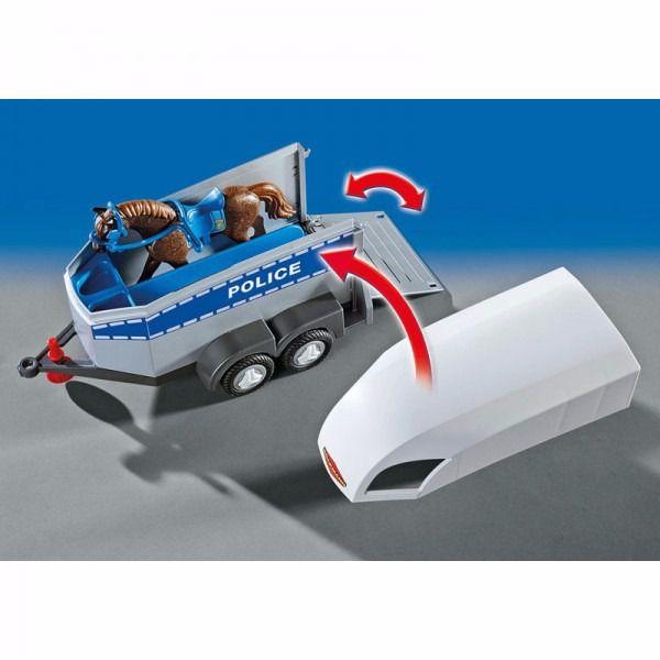 Polícia Montada Com Trailer City Action Playmobil 6922
