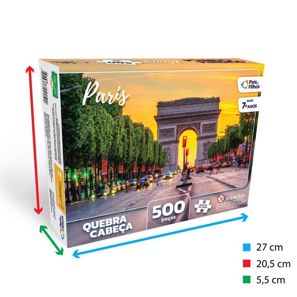 Quebra Cabeça Paris 500 Peças Pais E Filhos