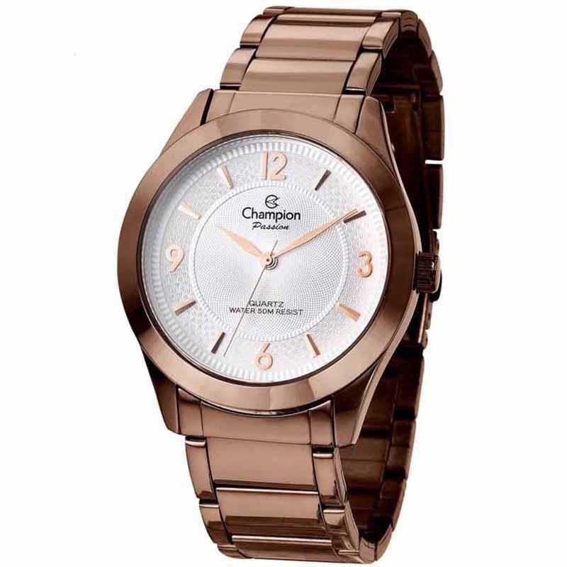 Relógio Analógico Original Feminino Champion Chocolate CN28866O