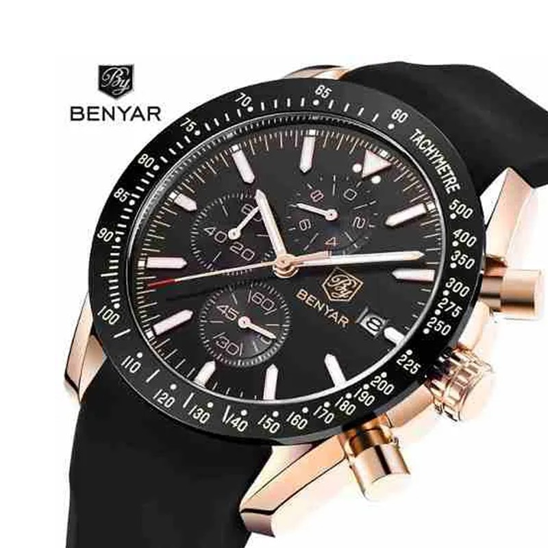 Relogio Benyar 5140 Original Waterproof Lançamento Luxo