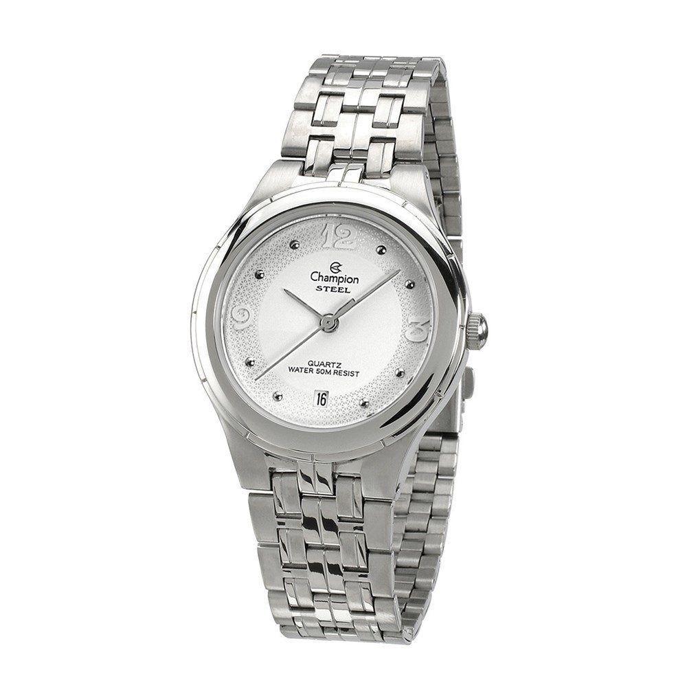 Relógio Champion Analógico Aço Ca20518q Prata