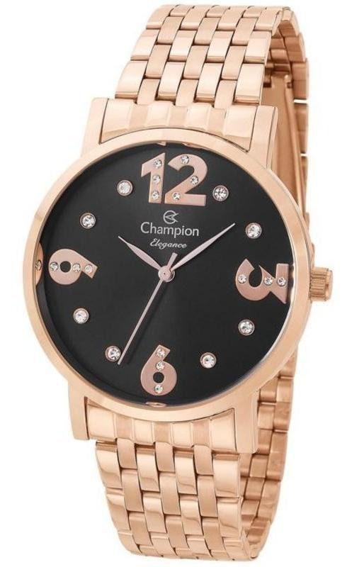 Relógio Champion Analógico Cn24262p Rosê Feminino 1 Ano de Garantia Prova Dágua