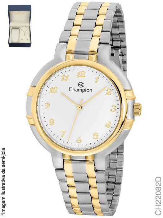 Relógio Champion Ch22082d Feminino Misto Pequeno + Kit