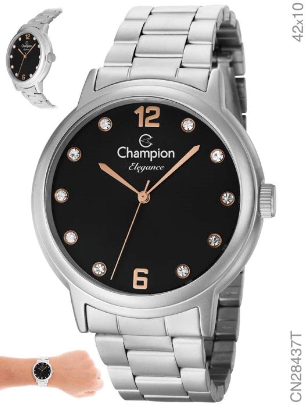 Relógio Champion CN28437T Prata Feminino