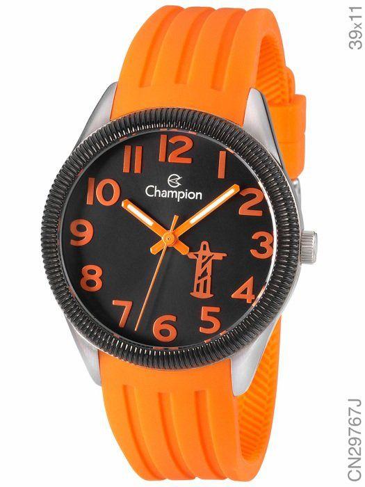 Relógio Champion CN29767J Analógico Feminino Laranja
