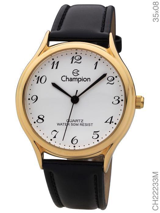 Relógio Champion Couro Feminino 50 metros Ch22233m