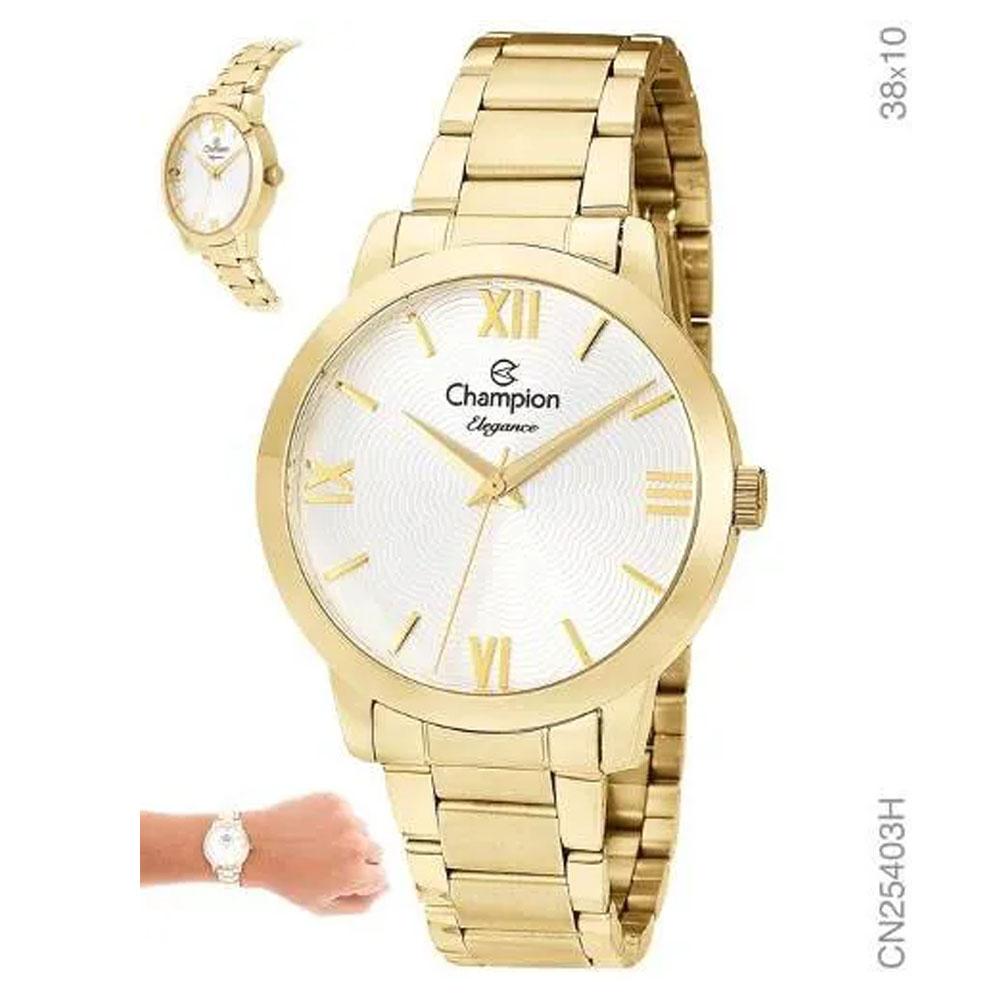 Relógio Champion Dourado Feminino Cn25403h