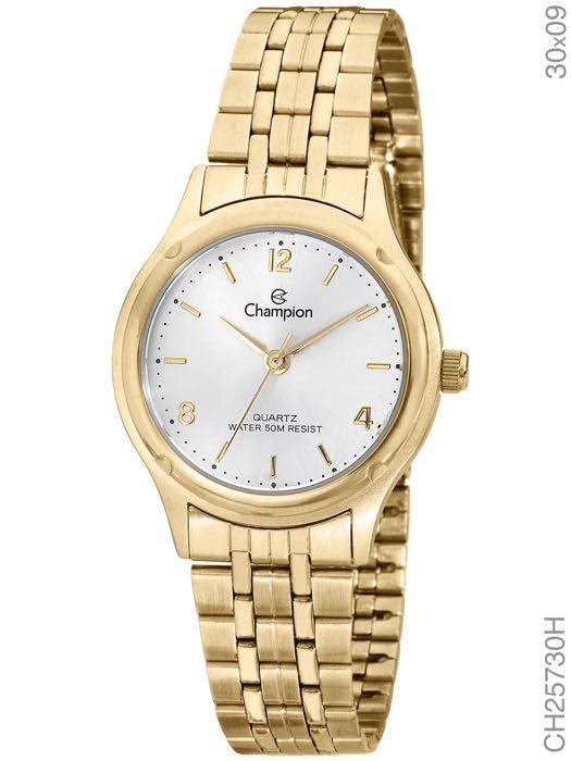 Relógio Champion Feminino Analógico Dourado Social CH25730H