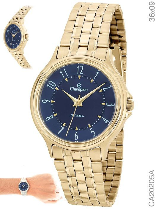 Relógio Champion Feminino Ca20205a Dourado