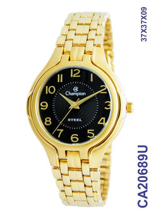 Relógio Champion Feminino CA20689U Pequeno Aço Dourado