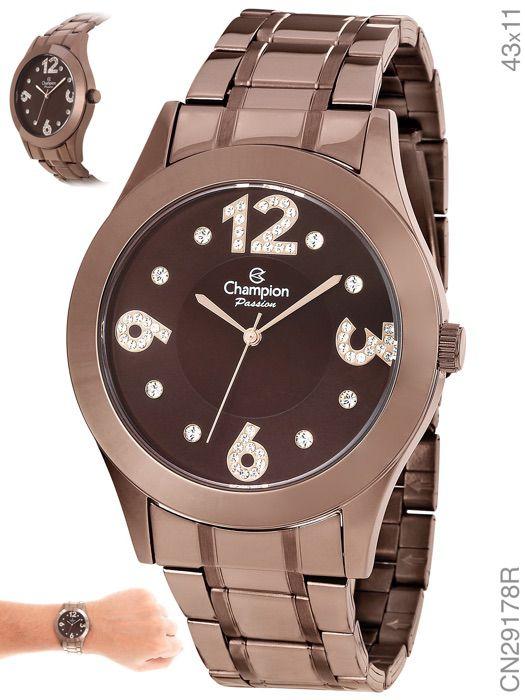 Relógio Champion Feminino Chocolate CN29178R