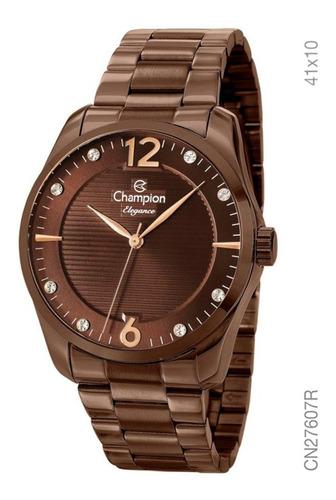 Relógio Champion Feminino Chocolate Original 1 Ano De Garantia Prova D'água