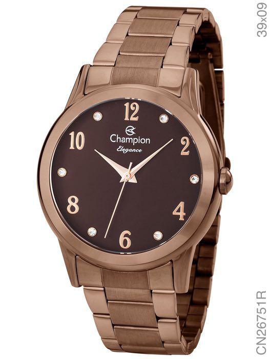 Relógio Champion Feminino CN26751R Chocolate Original