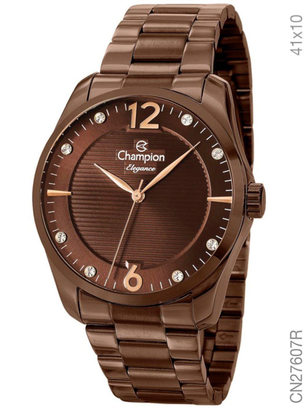 Relógio Champion Feminino CN27607R Chocolate