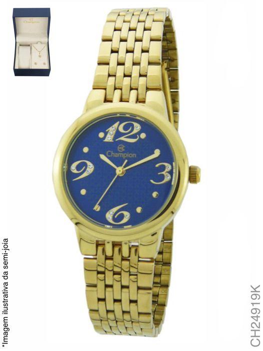 Relógio Champion Feminino + Conjunto Semi Joia CH24919K