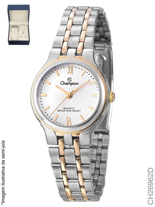 Relógio Champion Feminino + Conjunto Semi Joia CH26962D