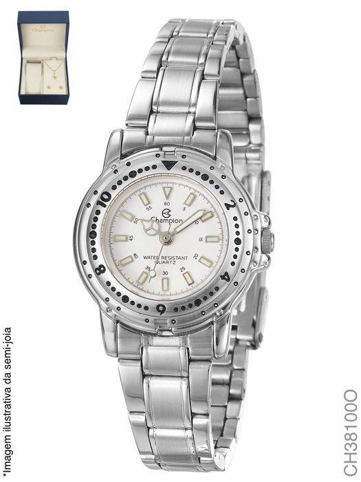Relógio Champion Feminino + Conjunto Semi Joia CH38100O