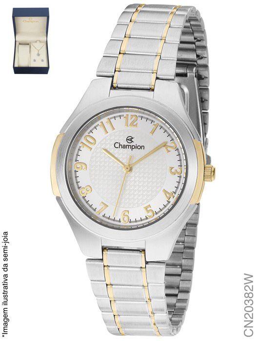 Relógio Champion Feminino + Conjunto Semi Joia CN20382W