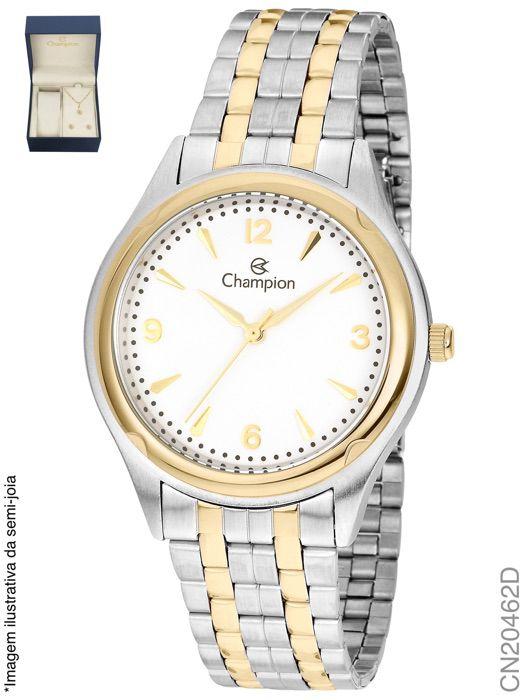 Relógio Champion Feminino + Conjunto Semi Joia CN20462D