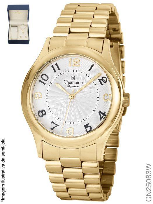 Relógio Champion Feminino + Conjunto Semi Joia CN25083W