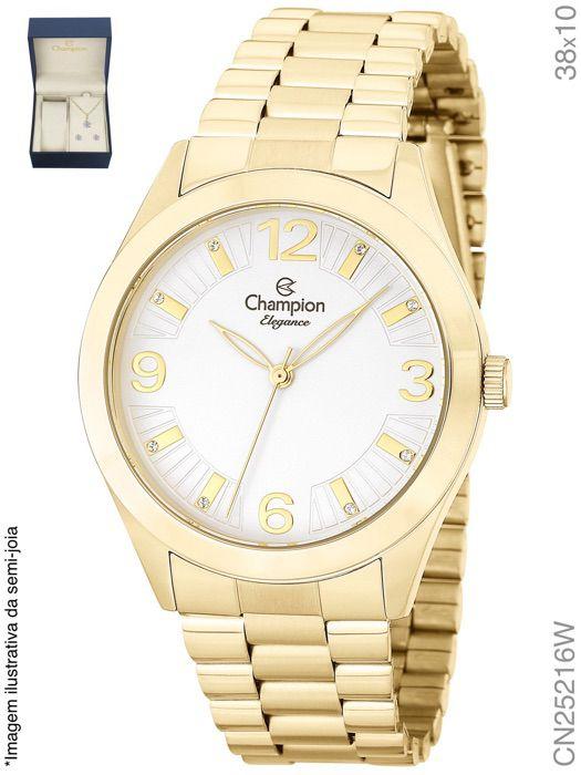 Relógio Champion Feminino + Conjunto Semi Joia CN25216W