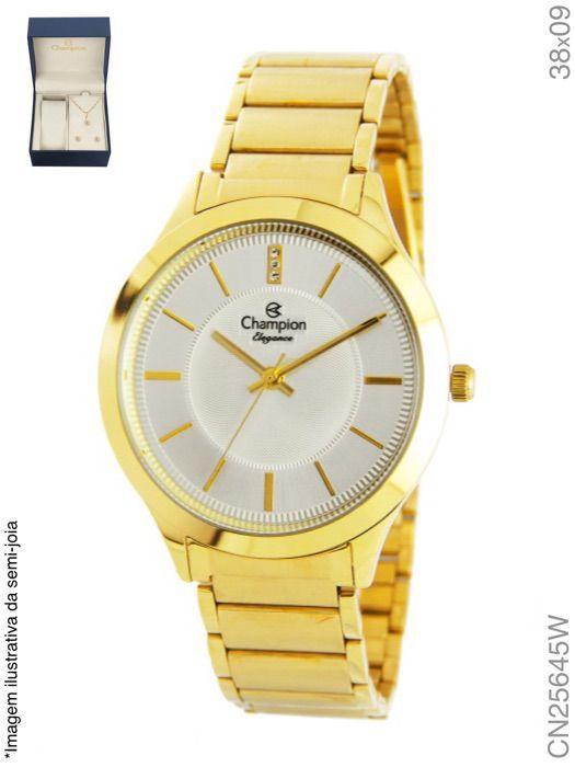 Relógio Champion Feminino + Conjunto Semi Joia CN25645W