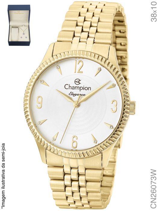 Relógio Champion Feminino + Conjunto Semi Joia CN26073W