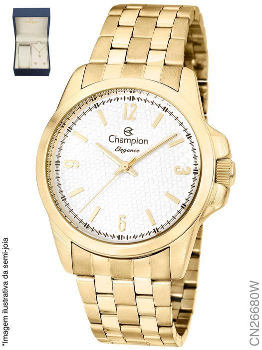 Relógio Champion Feminino + Conjunto Semi Joia CN26680W
