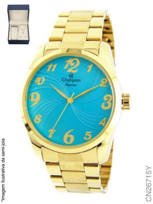 Relógio Champion Feminino + Conjunto Semi Joia CN26715Y