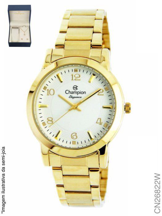 Relógio Champion Feminino + Conjunto Semi Joia CN26822W