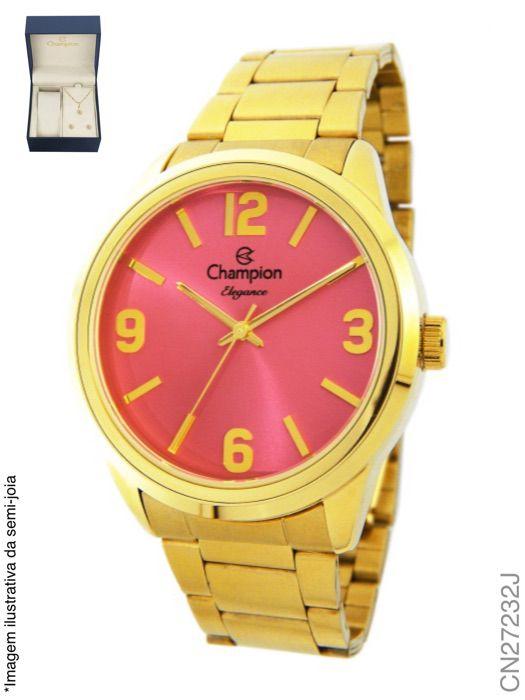 Relógio Champion Feminino + Conjunto Semi Joia CN27232J