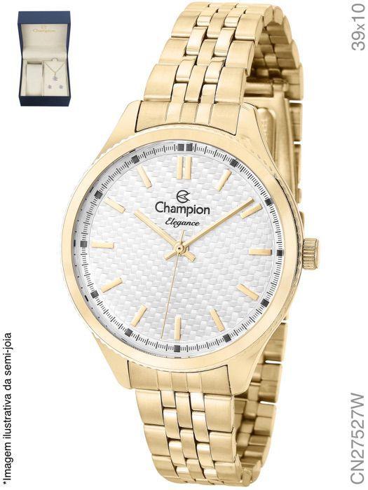 Relógio Champion Feminino + Conjunto Semi Joia CN27527W