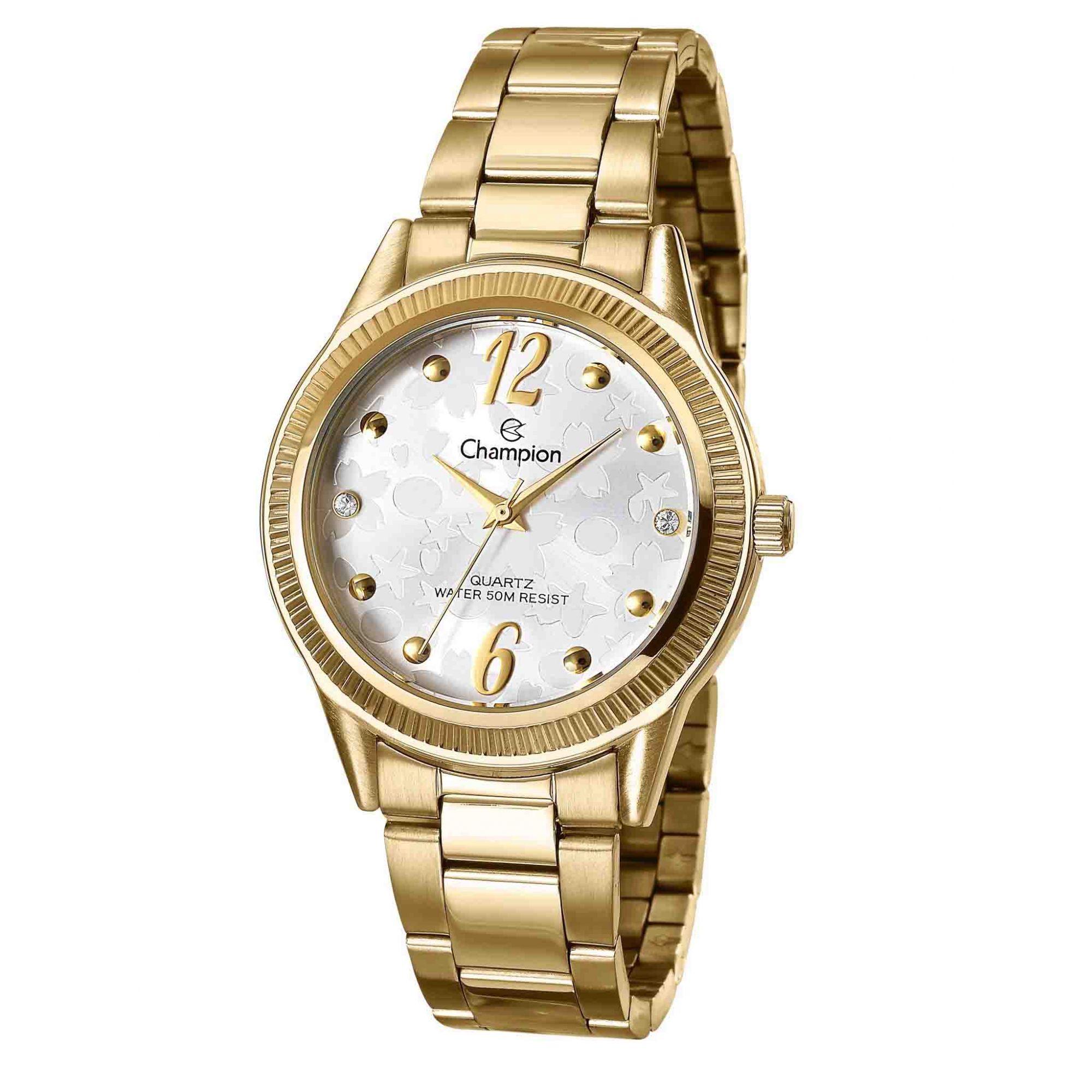Relógio Champion Feminino + Conjunto Semi Joia CN29570W