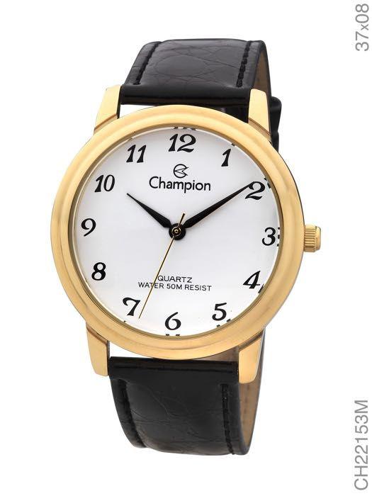 Relógio Champion Feminino Couro 50 metros CH22153M