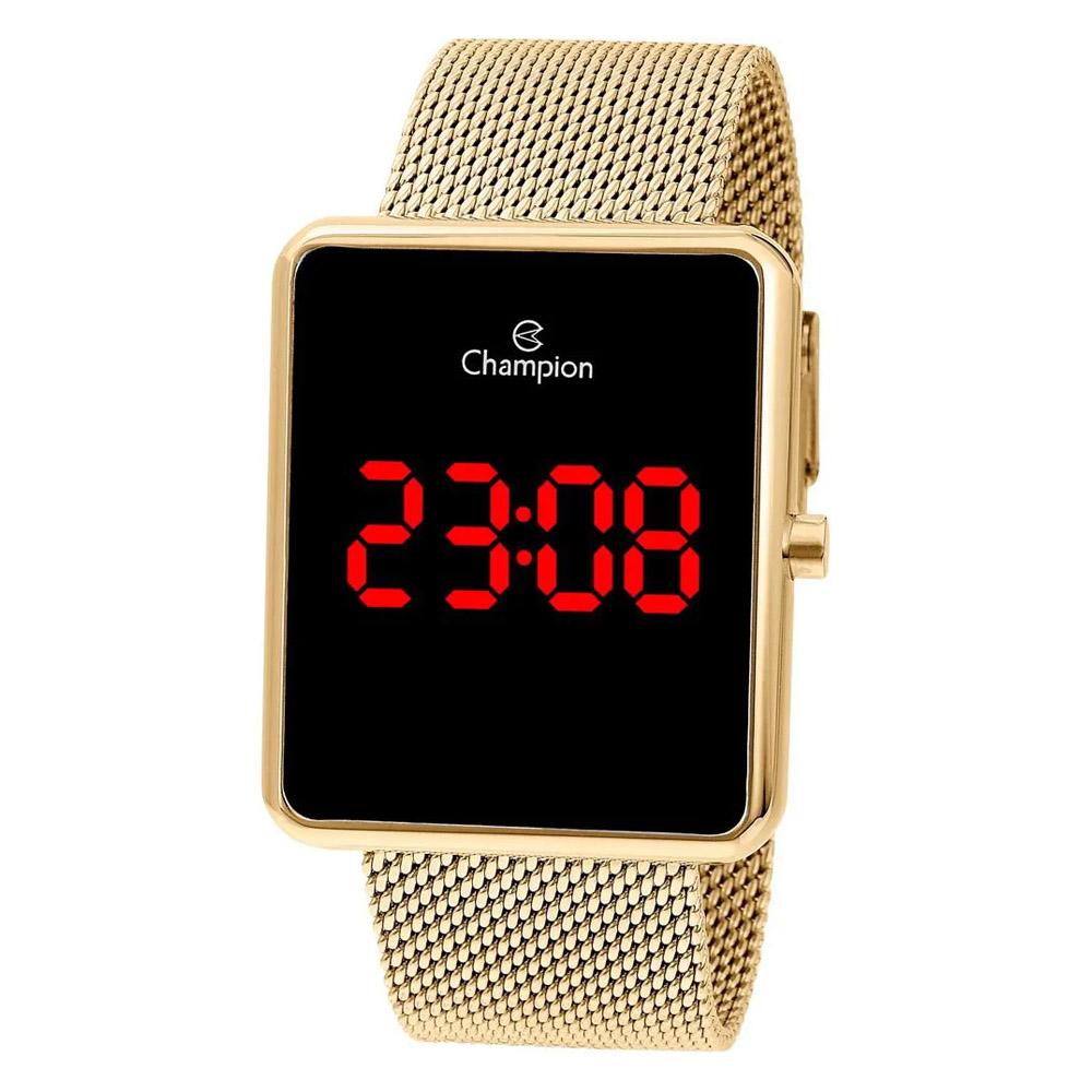 Relógio Champion Feminino Digital Dourado Rosê Promoção Top