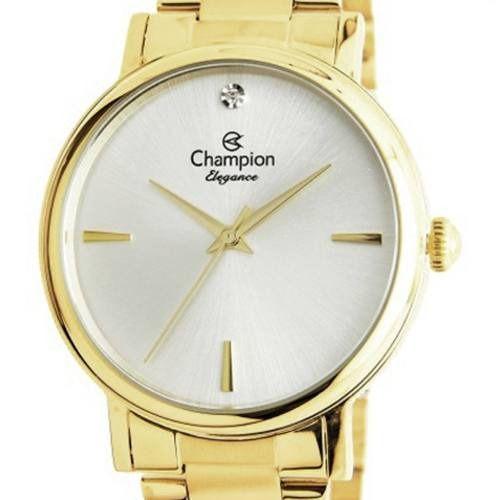Relógio Champion Feminino Dourado CN25896H