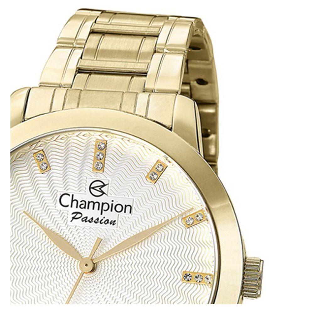Relogio Champion Feminino Dourado Cn29276h Original Promoção