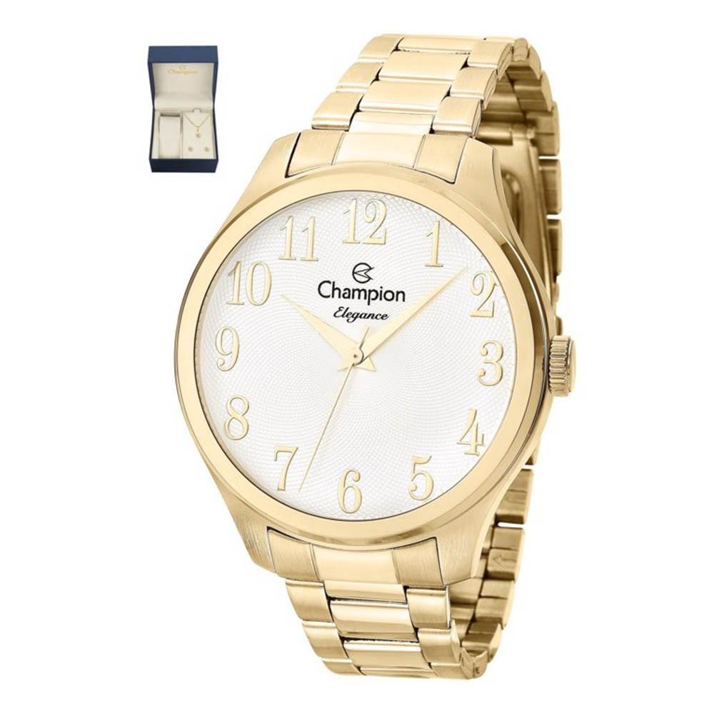 Relógio Champion Feminino + Kit Semi Jóia Original CN27518W