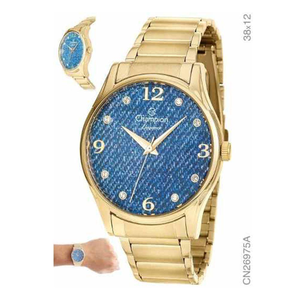 Relógio Champion Feminino Original Cn26975k Kit Brinde + Nf