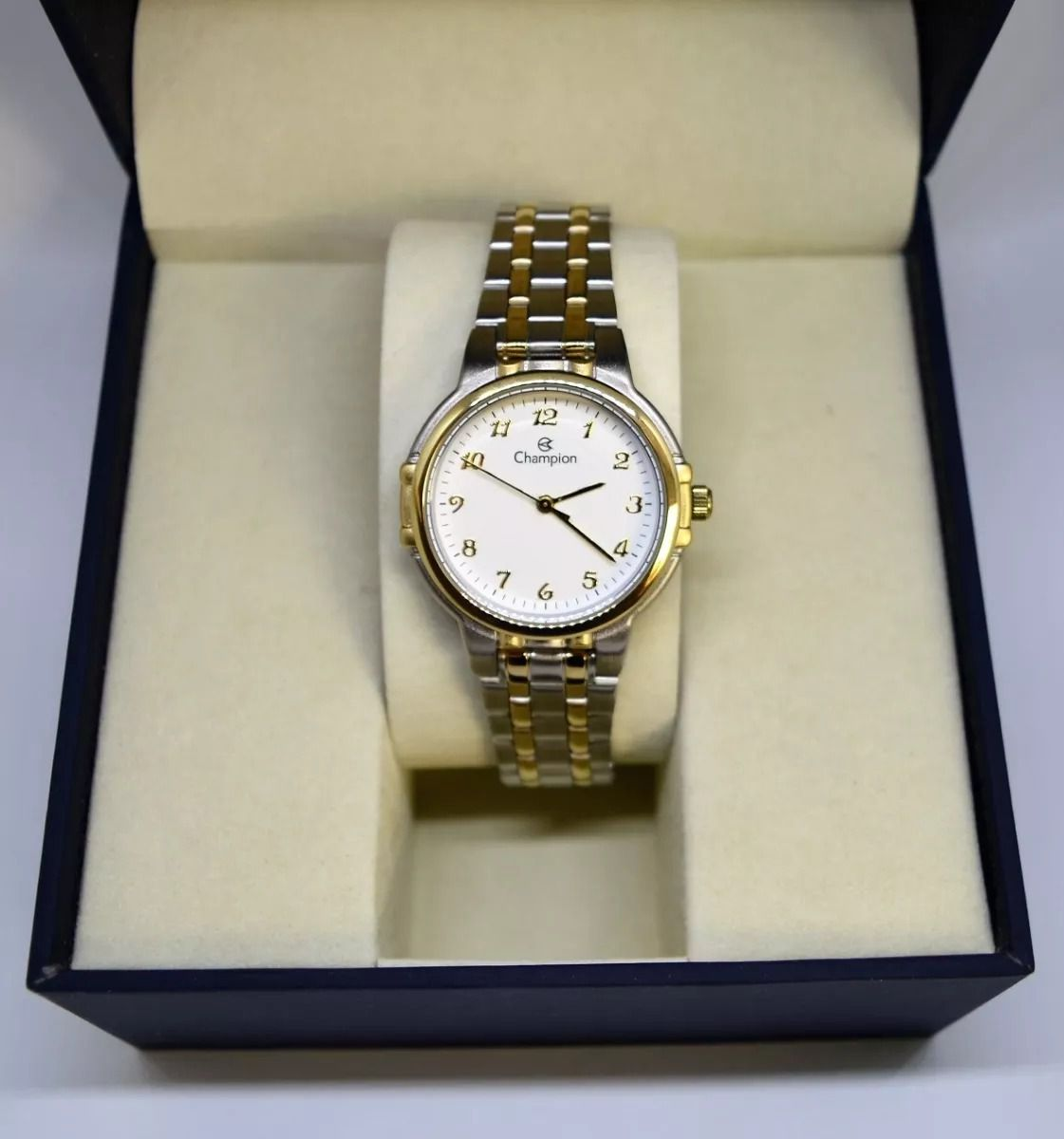 Relógio Champion Feminino Prata e Dourado Social CN28142B