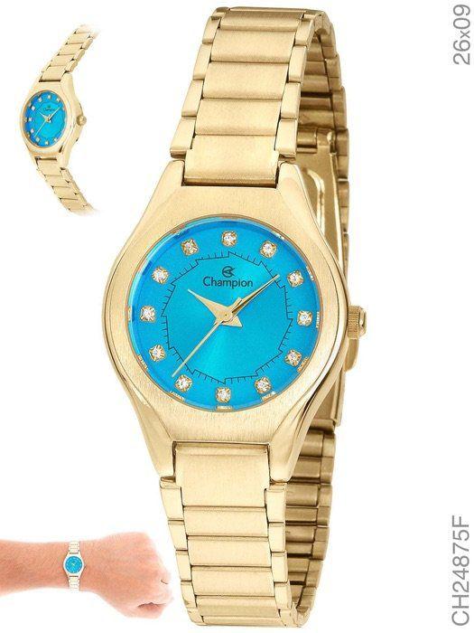 Relógio Champion Feminino Social CH24875F Fundo Azul