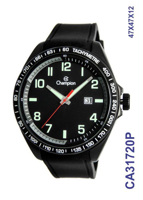 Relógio Champion Masculino Ca31720p Esportivo Black