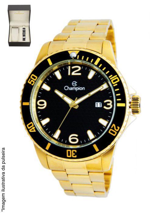 Relógio Champion Masculino Casual Dourado CA31515X