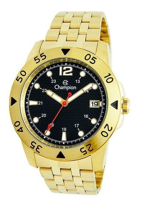 Relógio Champion Masculino Dourado Social Ca31319u
