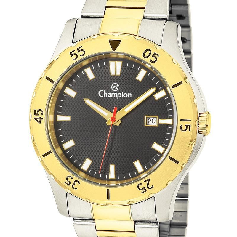 Relógio Champion Masculino Prata e Dourado Ca31337p