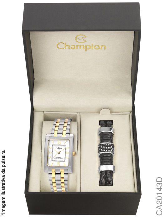 Relógio Champion Masculino Social Ca20143d Prata Com Dourado