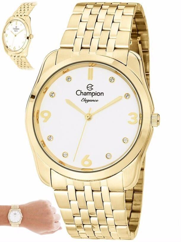 Relógio Champion Ouro Feminino Elegance Cn25341h Dourado 1 Ano de Garantia Prova Dágua