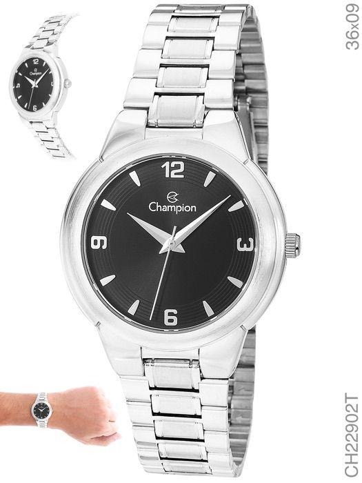 Relógio Champion Prata Aço Feminino Ch22902t
