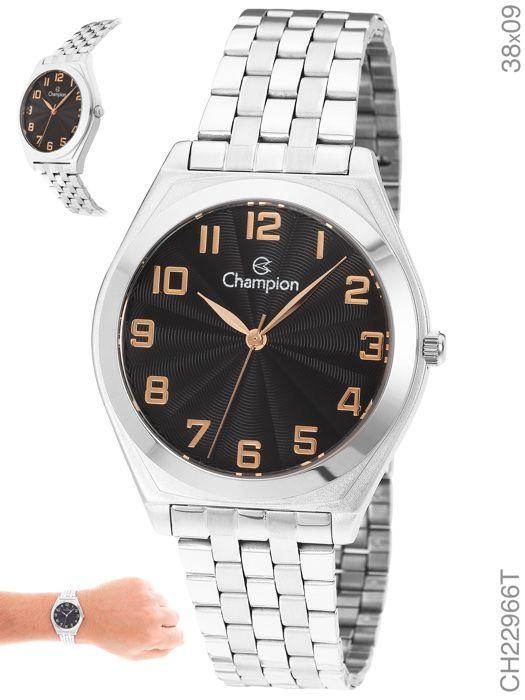 Relógio Champion Prateado Feminino Ch22966t