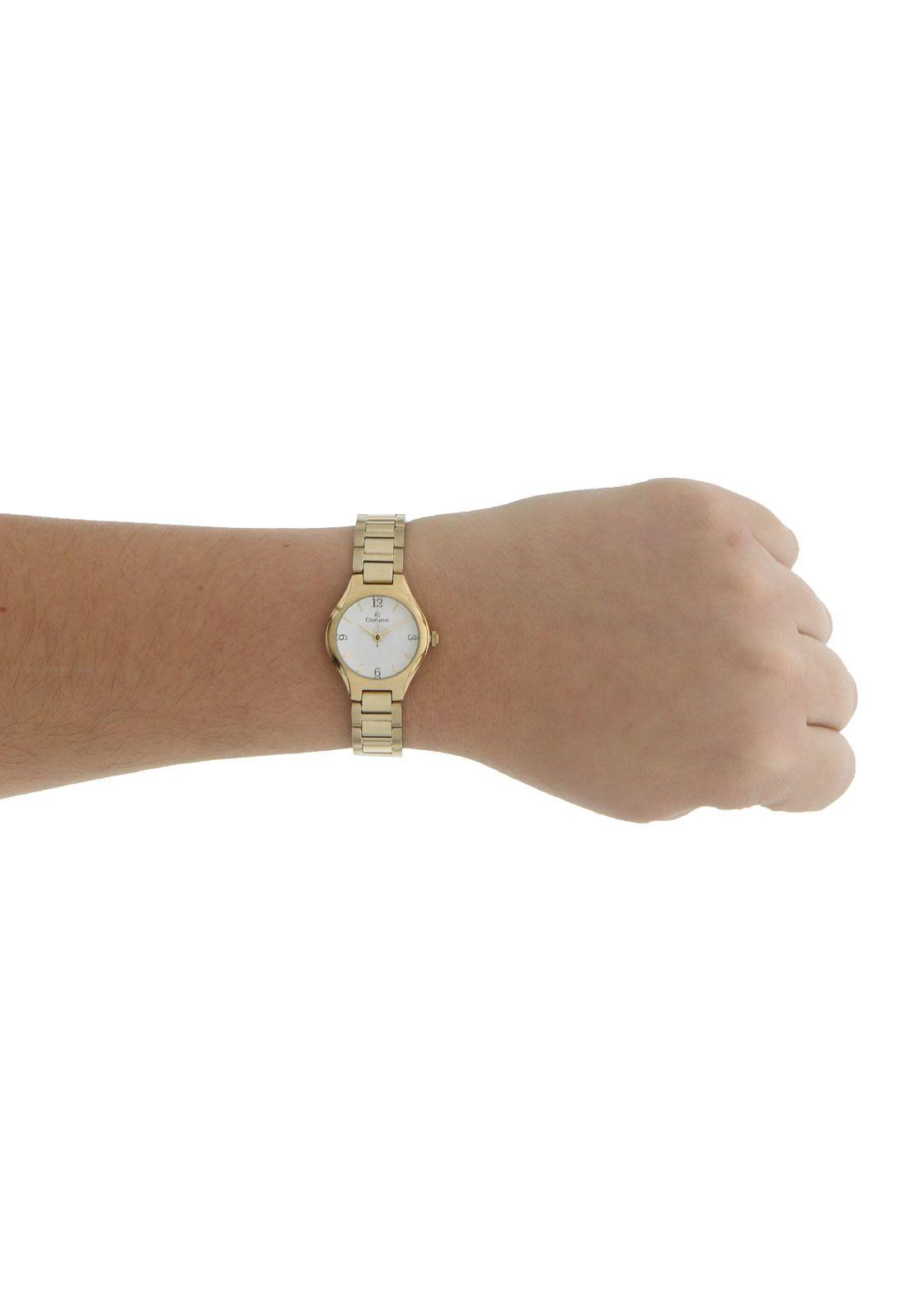 Relógio Champion Feminino Social Dourado CH25249H
